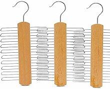 Coomir Krawattenbügel aus Holz, rutschfest,