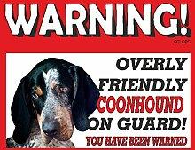 Coonhound Guard Dog Metall Schild 79