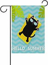 Cooper Mädchen Hello Summer Funny Cat Garten