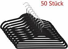 Coorun 50 Stück SAMT Kleiderbügel mit