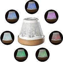 COOSA aroma diffuser, Mehrfarbig duftlampe elektrisch, Wald-Muster Luftbefeuchter , Aromatherapie Diffusor mit der Light Funktion
