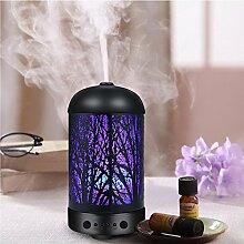 COOSA Luftbefeuchter 100ml Standard tragbare aroma diffuser, ätherisches Öl Diffusor Luftbefeuchter für Aromatherapie mit 7 LED-Licht für Haus und Büro