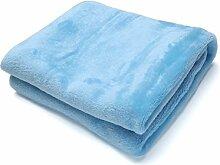 cooshional Decke Wolldecke Kuscheldecke Wohndecke Tagesdecke 70x100cm weiche Fleecedecke Microfaser Blau