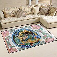 COOSUN Ancient Dragon Design Area Rug Carpet