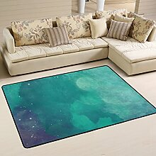 COOSUN Aquarell Fantasy Nachthimmel Teppich