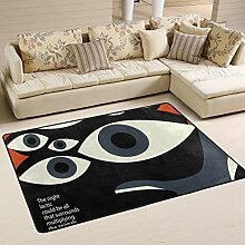 COOSUN Augen Teppich rutschfest für Wohnzimmer