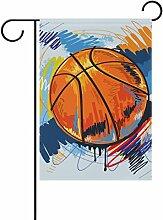 COOSUN Basketball Malerei Polyester Garten Flagge