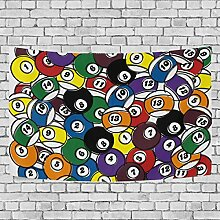 """COOSUN Billiard Ball In One Tapestry Wall Hanging for Home Wall Decorative for Living Room Bedroom Dorm Decoration, 90""""X60"""