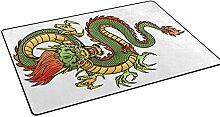 COOSUN Chinese Dragon Area Rug Carpet Non-Slip