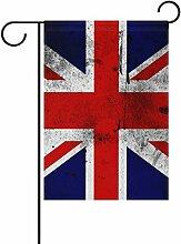 COOSUN die britische Flagge Polyester Garten