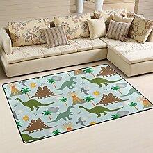 coosun Dinosaurier Szene Bereich Teppich Teppich