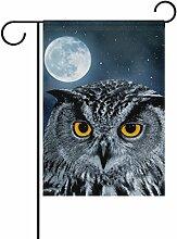 COOSUN Eagle Owl Bubo Polyester Garten Flagge im