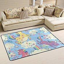 COOSUN Einhörner Bereich Teppich Teppich