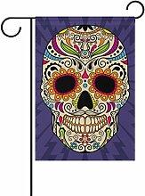 COOSUN Farbe mexikanischen Schädel Polyester