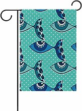 COOSUN Fische Cartoon Polyester Garten-Flagge im