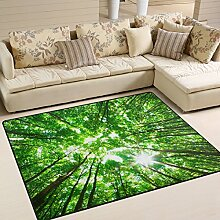 coosun grün Wald, Teppich Teppich rutschfeste