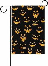 COOSUN Halloween Kürbisse Muster Polyester Garten