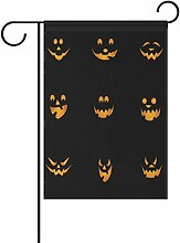 COOSUN Halloween Kürbisse Polyester Garten Flagge