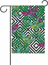 COOSUN Hummingbrids und Palm Blätter Polyester