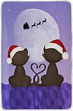 COOSUN Katzen auf Dem Dach Weihnachten Weiche