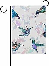 COOSUN Kolibris Muster Polyester Garten Flagge