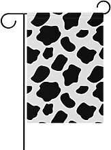 COOSUN Kuh Muster Polyester Garten Flagge im