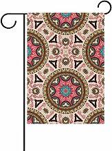 COOSUN Mandala Muster Polyester Garten Flagge im