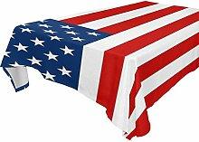 COOSUN mit amerikanischer Flagge Tischdecke für