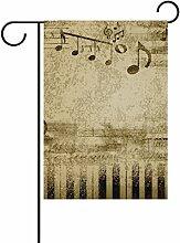 COOSUN Music Notes Polyester Garten Flagge Außen