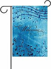 COOSUN Musik Blau Hintergrund Polyester Garten