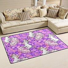 coosun Mystic Einhörner Bereich Teppich Teppich