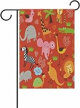 COOSUN niedlichen Tiere Muster Polyester Garten