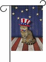 COOSUN patriotische Wand und Katze Polyester