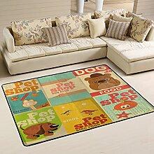 COOSUN Pet Shop Dog Design Area Rug Carpet
