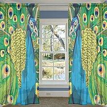 COOSUN Pfau Malerei Schlafzimmer Zimmer Fenster
