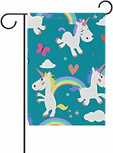 COOSUN Ponis Unicorn Muster Polyester Garten