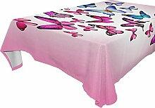 COOSUN Rechteck rosa Schmetterlinge Tischdecke