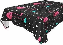 COOSUN rechteckig, Rosa Flamingos Tischdecke für