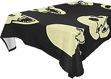 COOSUN rechteckig Skulls Tischdecke für Hochzeit