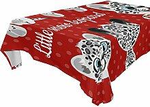 COOSUN Rectangle Emoji Kleine Leoparden Tischdecke