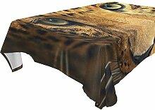 COOSUN Rectangle Leopard Tischdecke für Hochzeit