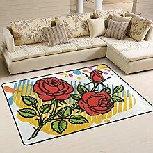 COOSUN Rosen Bereich Teppich Teppich Rutschfeste