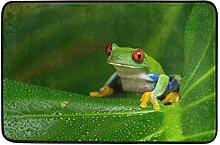 COOSUN Rot-Augen-Amazonas-Baum-Frosch-Fußmatte,
