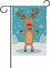 COOSUN Rudolph Schnee Bäume Polyester Garten