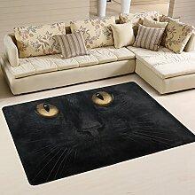 coosun schwarz Katze Bereich Teppich Teppich