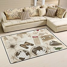 COOSUN Segel Elemente Teppich rutschfest für