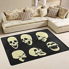 COOSUN Skulls Area Teppich Teppich Rutschfeste