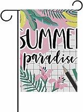 COOSUN Sommer Paradies Polyester Garten Flagge Im