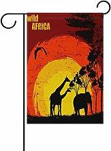 COOSUN Sonnenuntergang in Wild Afrika Polyester