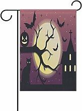 COOSUN Spooky Halloween Nacht Polyester Garten